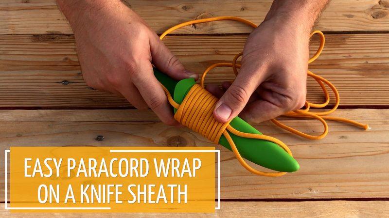 Paracord Wrap On A Knife Sheath